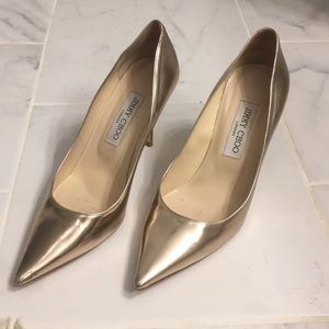 Gold romy jimmy choos